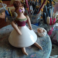 decorazione ballerina in ceramica salentina